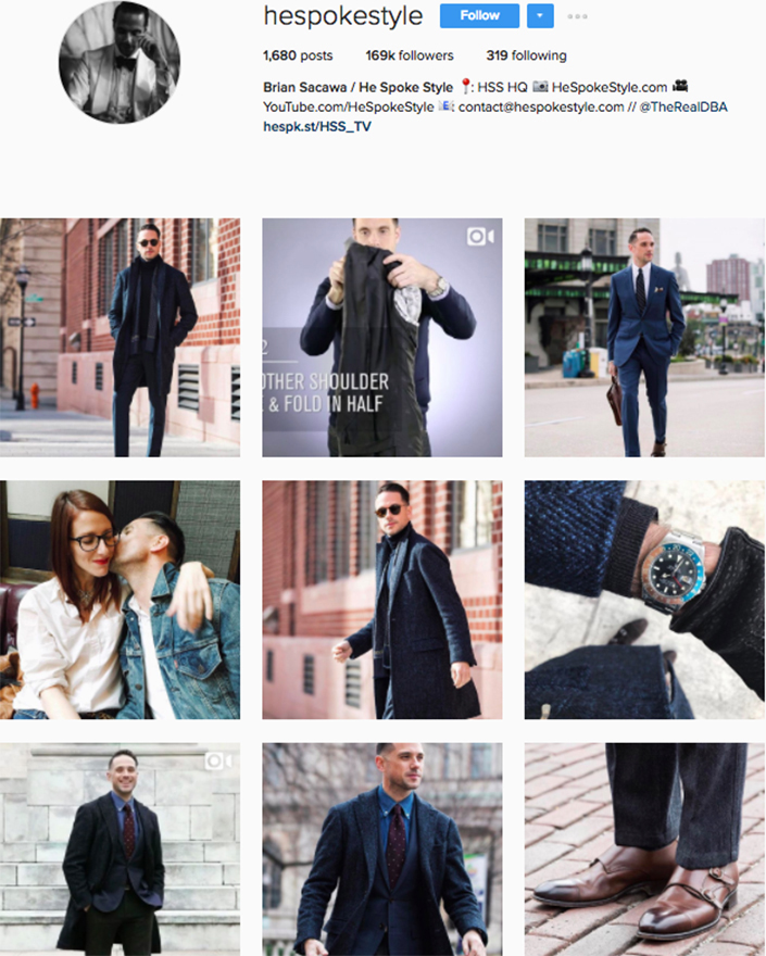 best menswear style bloggers Instagram influencers hespokestyle