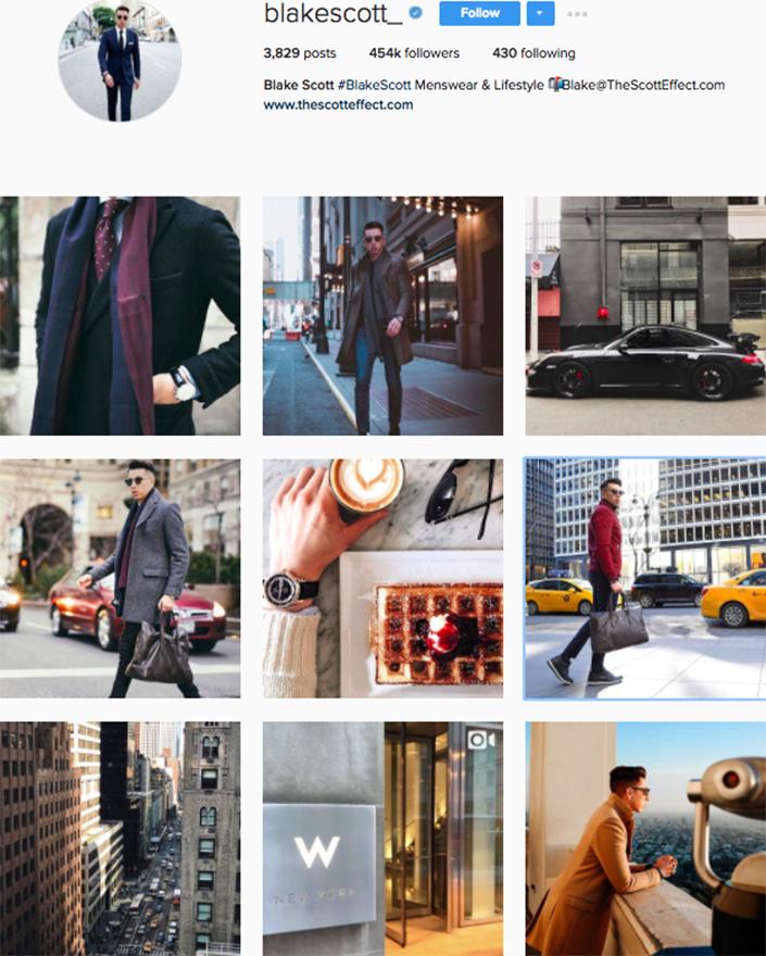 best menswear style bloggers Instagram influencers blakescott