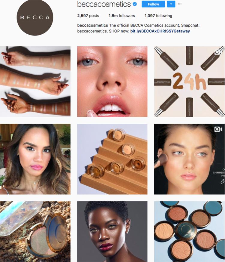 becca cosmetics beauty brands makeup brands list instagram beauty brands to follow on instagram