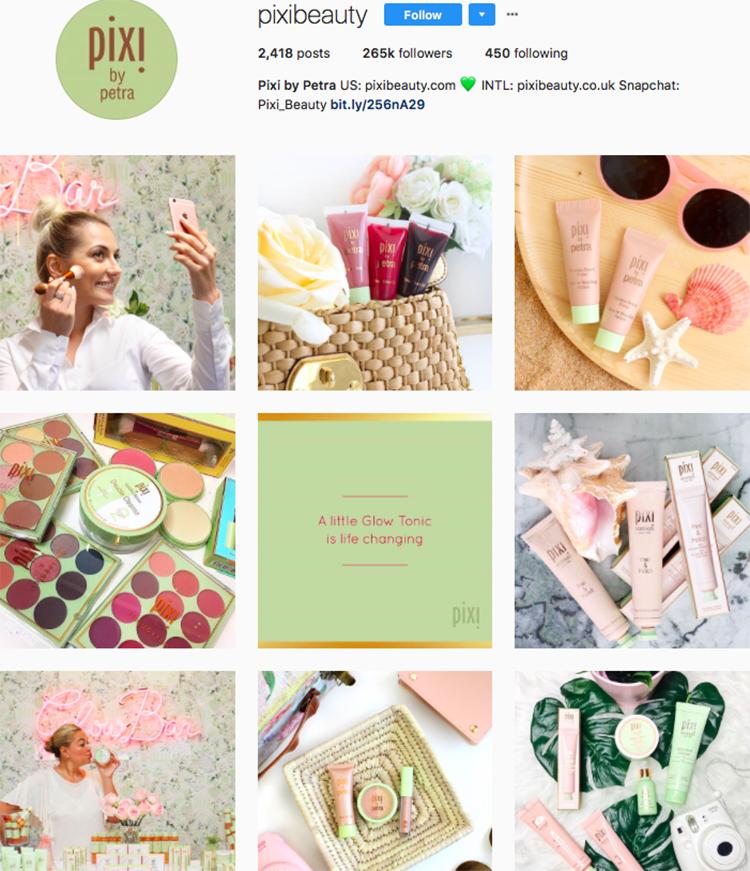 pixi beauty brands makeup brands list instagram beauty brands to follow on instagram