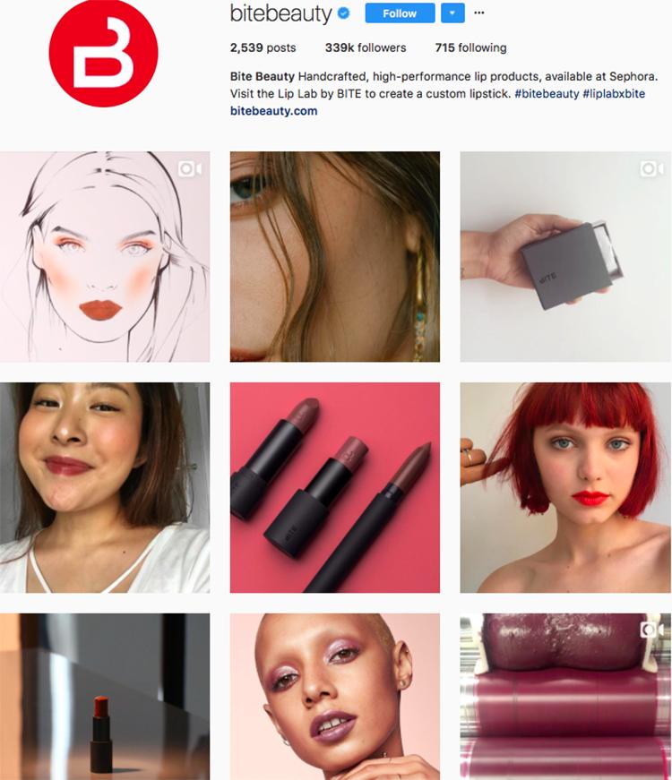 bite beauty beauty brands makeup brands list instagram beauty brands to follow on instagram