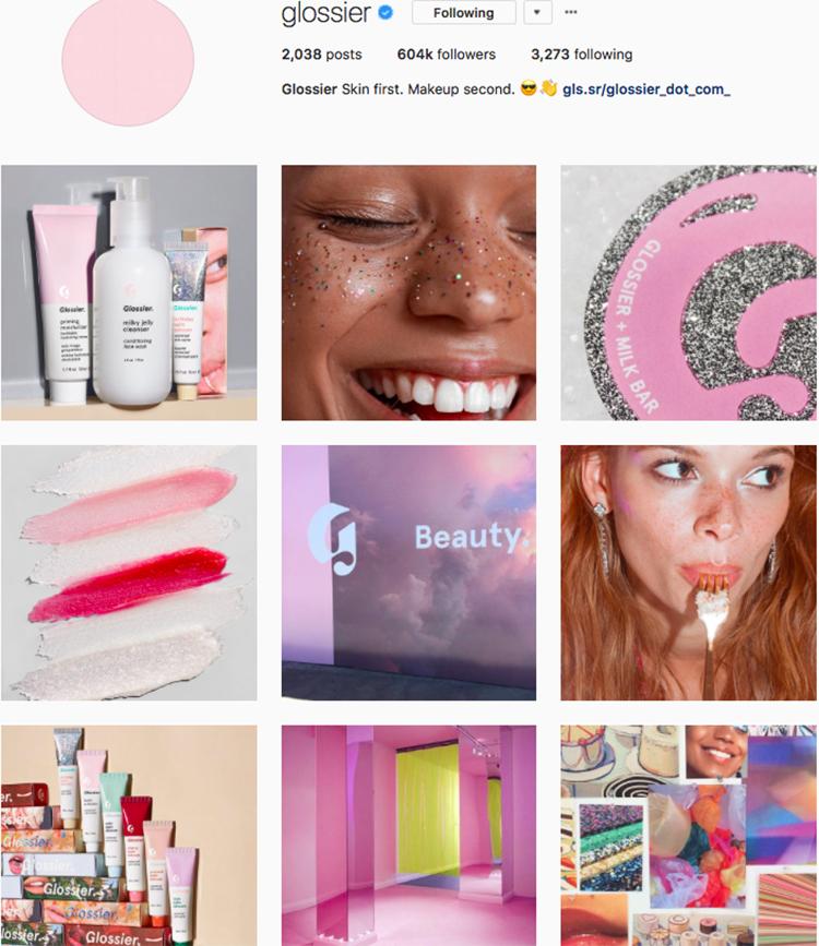 glossier beauty brands makeup brands list instagram beauty brands to follow on instagram