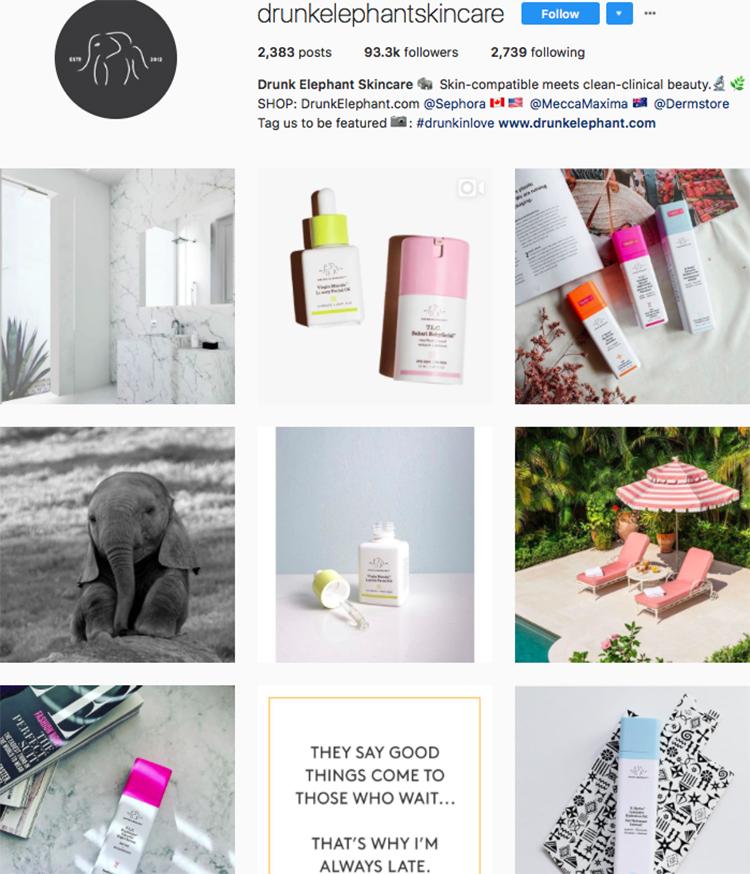 drunk elephant beauty brands makeup brands list instagram beauty brands to follow on instagram