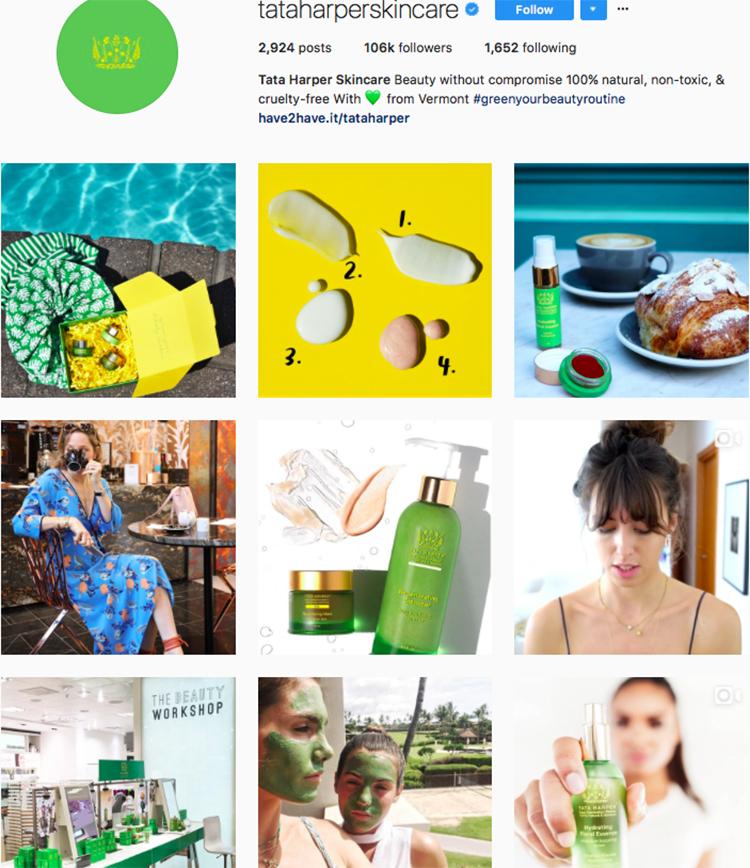 tata harper skincare beauty brands makeup brands list instagram beauty brands to follow on instagram