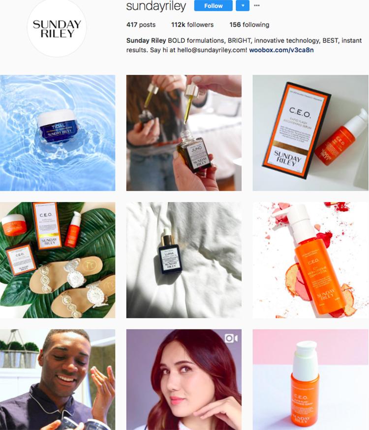 sunday riley beauty brands makeup brands list instagram beauty brands to follow on instagram