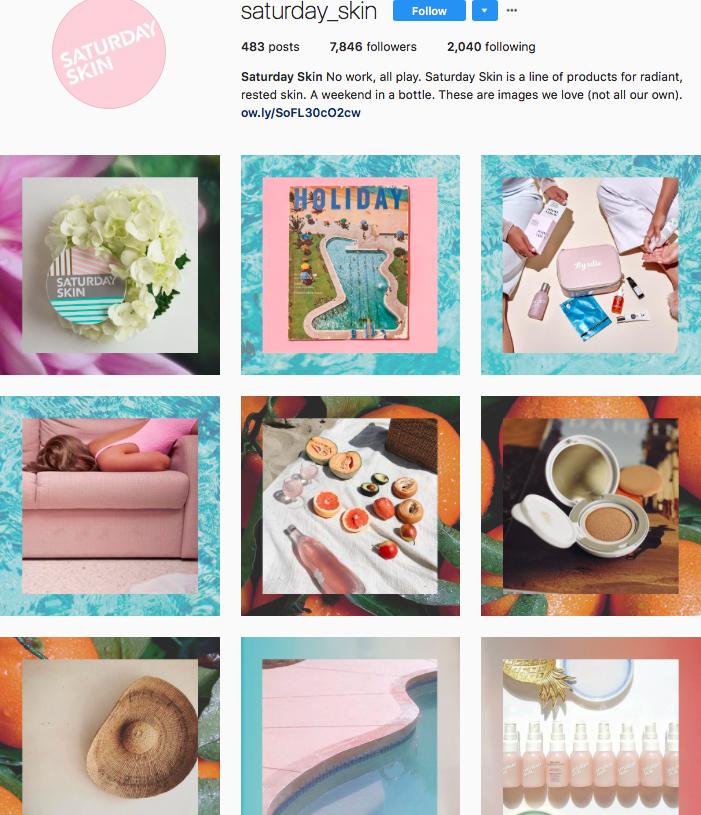 saturday skin beauty brands makeup brands list instagram beauty brands to follow on instagram