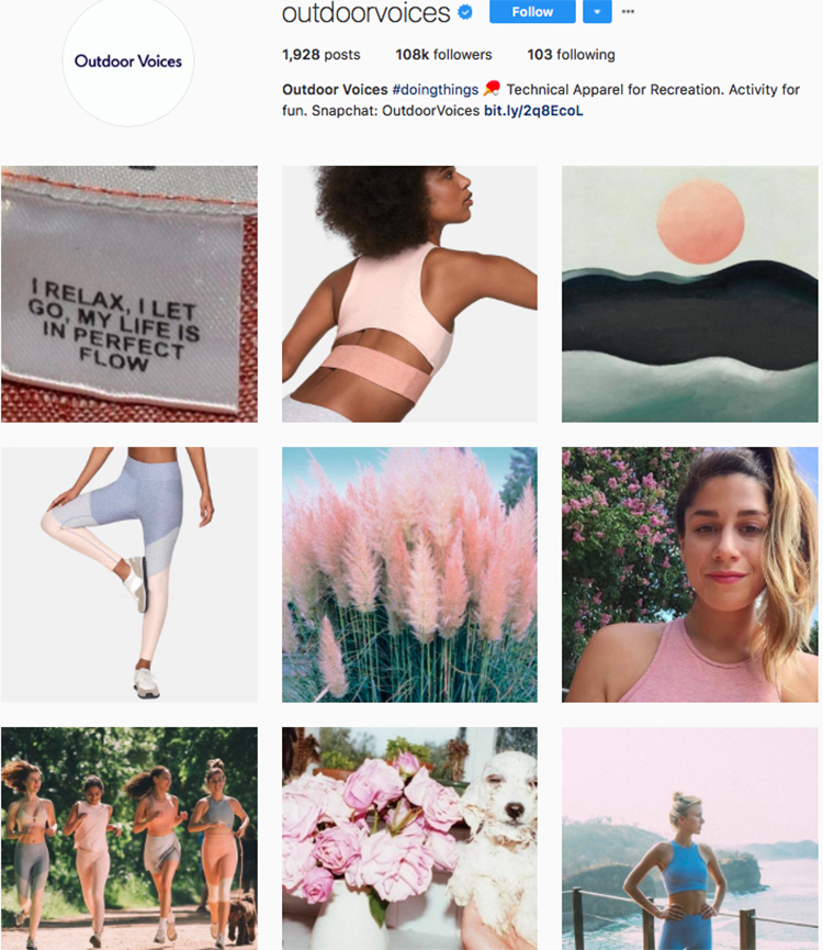 outdoorvoices top athleisure brand best accounts to follow on instagram