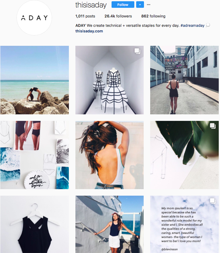 thisisaday top athleisure brand best accounts to follow on instagram