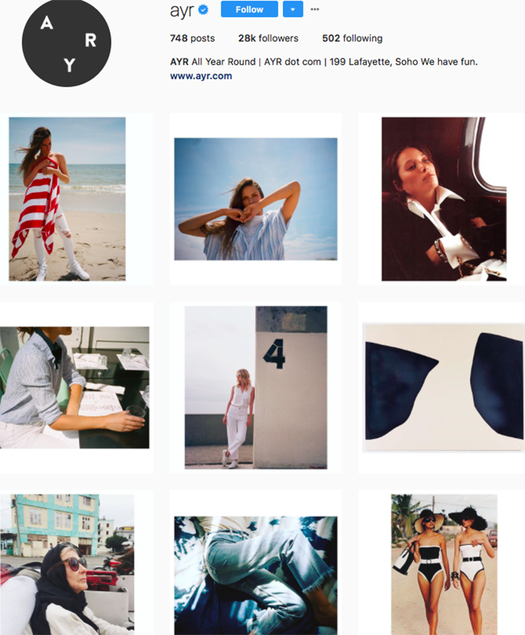 ayr top athleisure brand best accounts to follow on instagram
