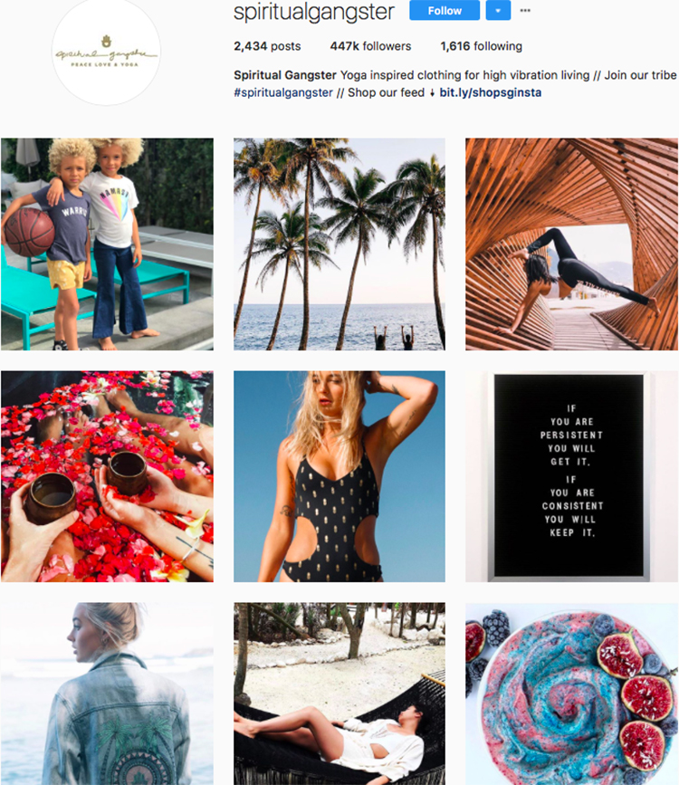 spiritual gangster top athleisure brand best accounts to follow on instagram