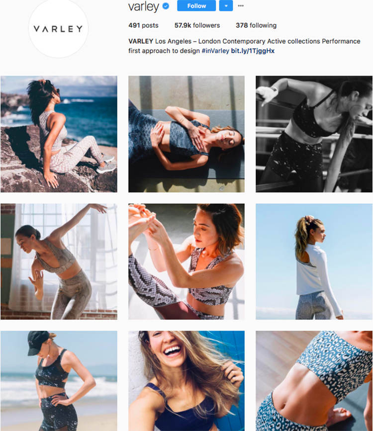 varley top athleisure brand best accounts to follow on instagram