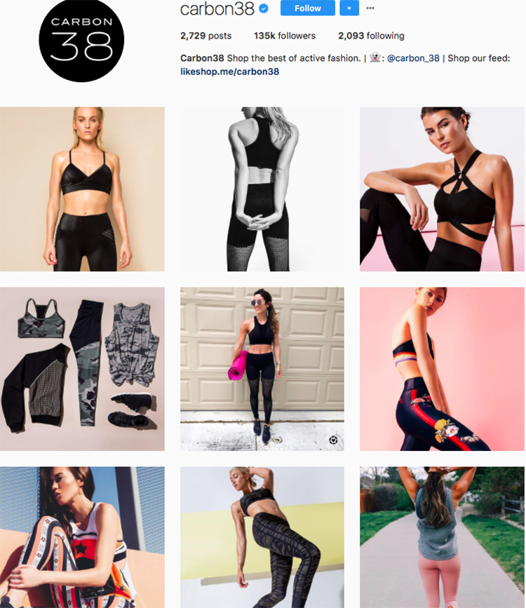 carbon38 top athleisure brand best accounts to follow on instagram