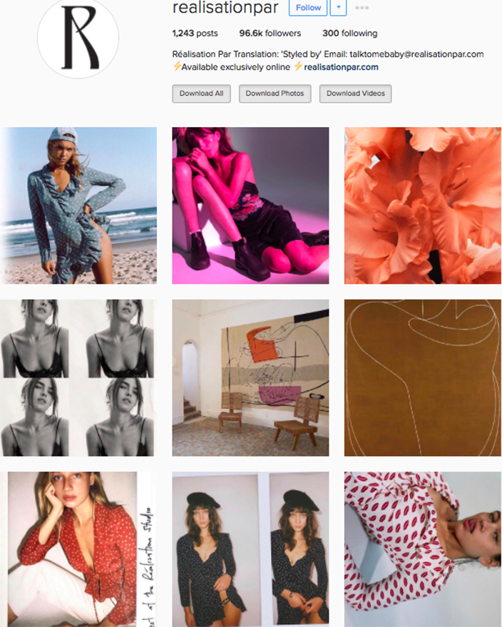who to follow Instagram cool girl indie brands realisation par