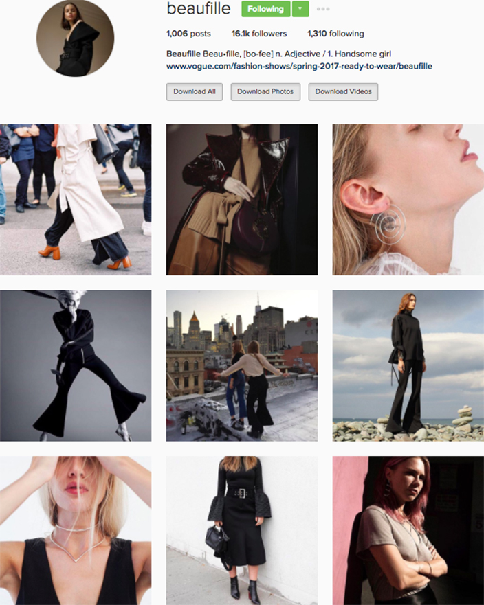 who to follow Instagram cool girl indie brands beau fille