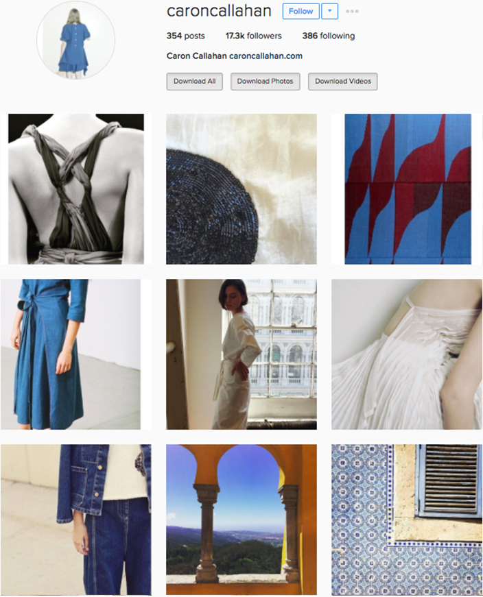 who to follow Instagram cool girl indie brands caron callahan