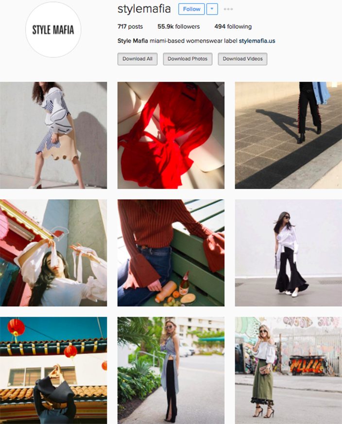 who to follow Instagram cool girl indie brands style mafia