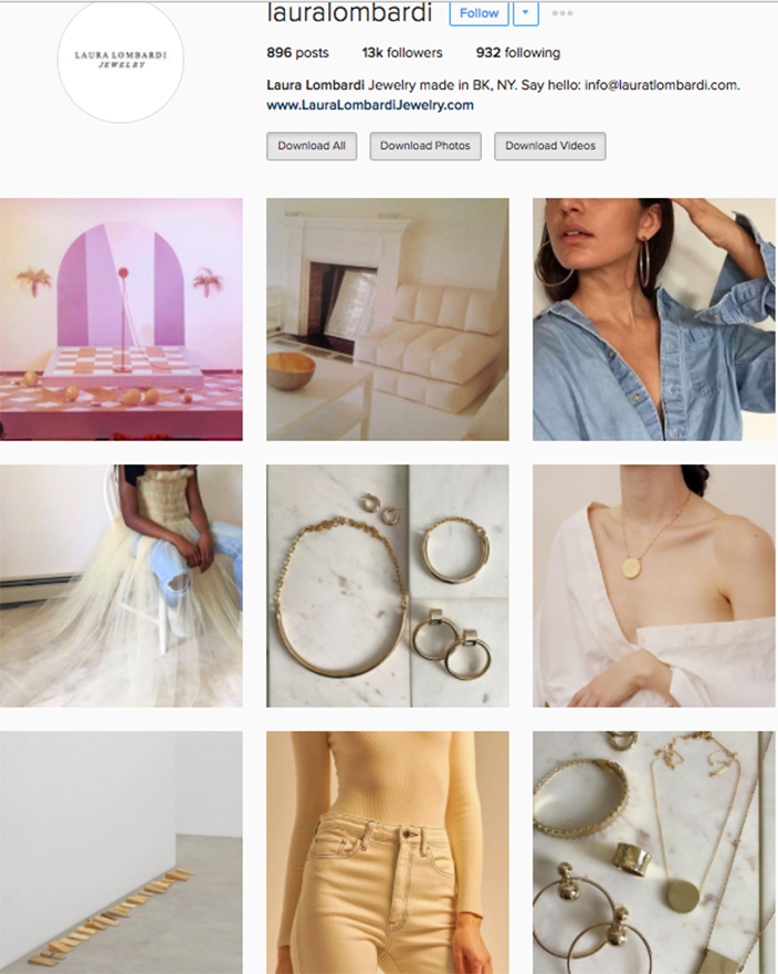 who to follow Instagram cool girl indie brands laura lombardi
