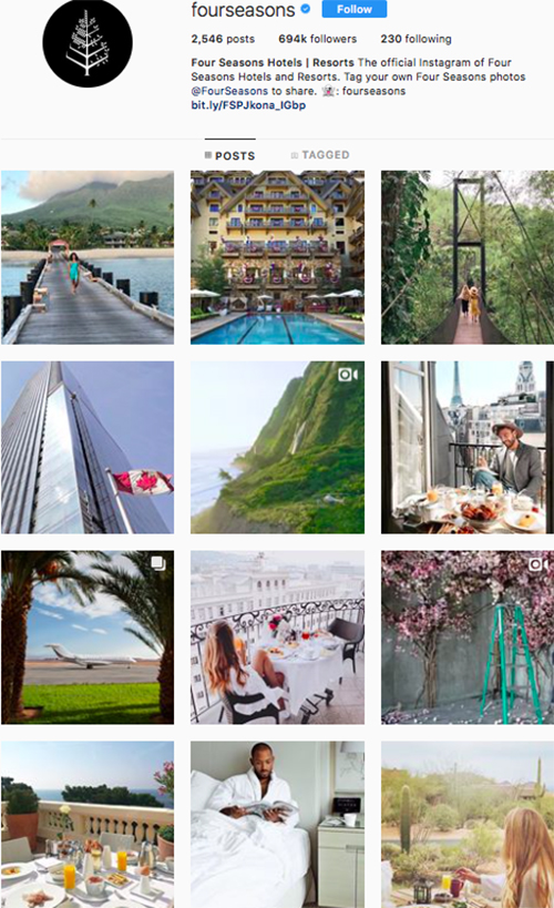 travel instagram, instagram accounts to follow, fourseasons