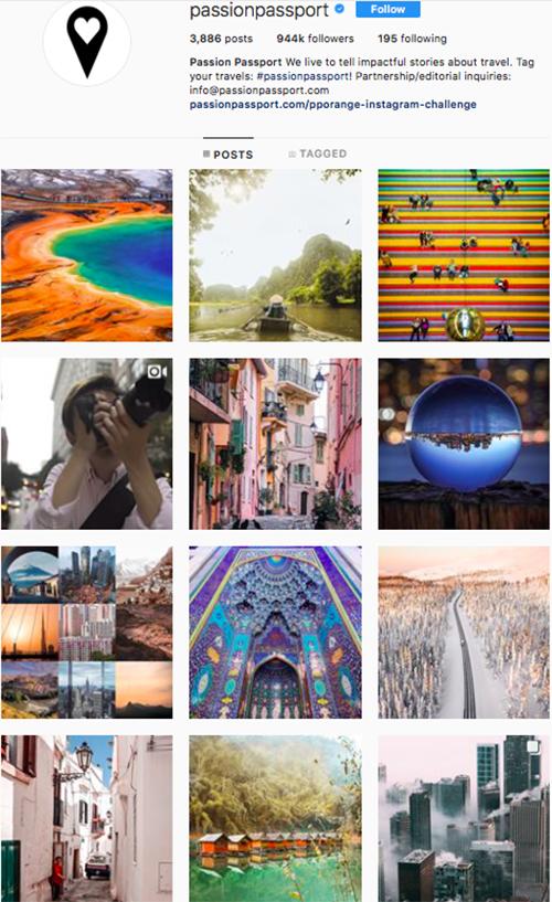 travel instagram, instagram accounts to follow, passionpassport