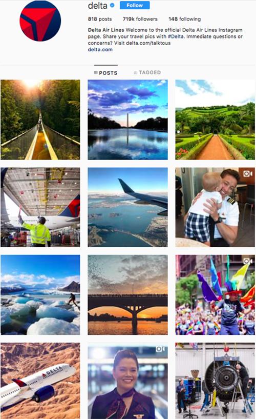 travel instagram, instagram accounts to follow, delta
