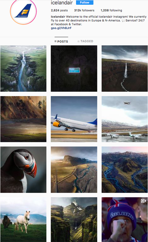 travel instagram, instagram accounts to follow, iceland air