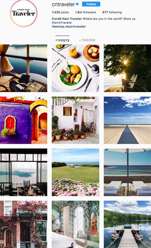 travel instagram, instagram accounts to follow, cntraveler