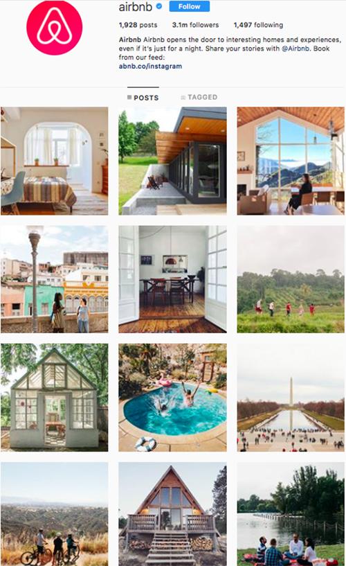 travel instagram, instagram accounts to follow, airbnb