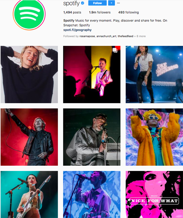 best instagram accounts for music lovers, top music Instagram accounts, who to follow on Instagram 2018, music instagram accounts, spotify