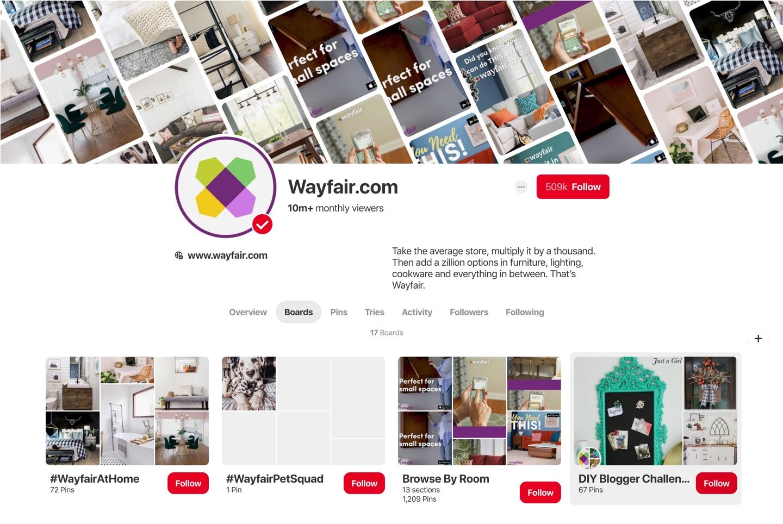 Wayfair Pinterest Strategy