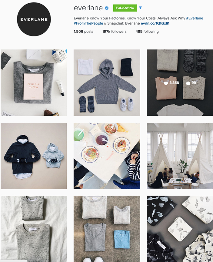 Small online-only brand Everlane is gaining more followers than they are losing. Certainly because they apply the five points listed below.