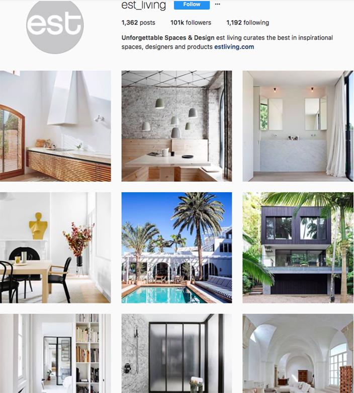 who to follow on instagram, australian clothing brands instagram, instagram marketing, best instagrams to follow, @est_living