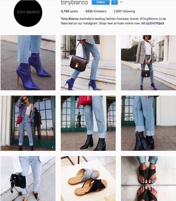 who to follow on instagram, australian clothing brands instagram, instagram marketing, best instagrams to follow, @tonybianco