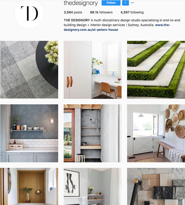 who to follow on instagram, australian clothing brands instagram, instagram marketing, best instagrams to follow, @thedesignory