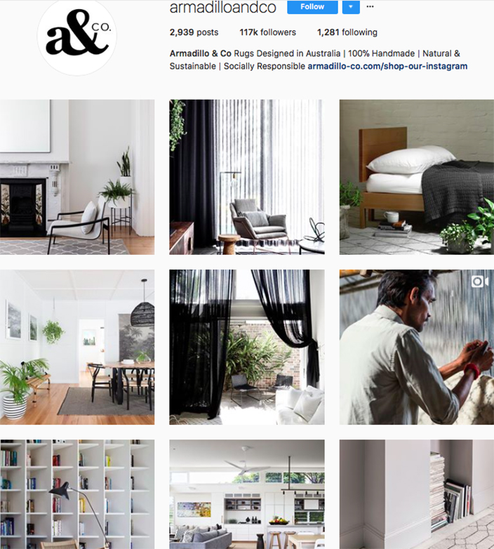who to follow on instagram, australian clothing brands instagram, instagram marketing, best instagrams to follow, @armadilloandco