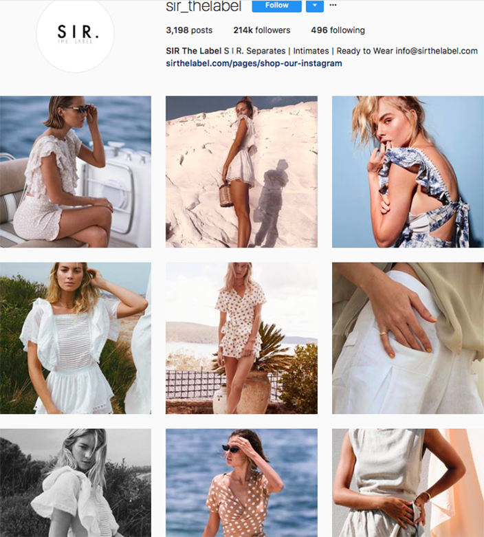 who to follow on instagram, australian clothing brands instagram, instagram marketing, best instagrams to follow, @sir_thelabel