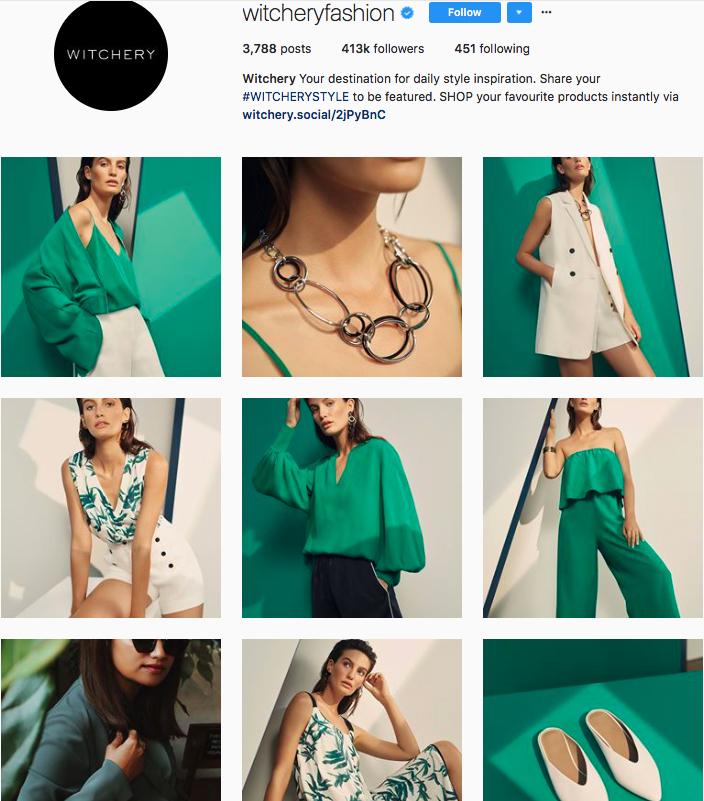 who to follow on instagram, australian clothing brands instagram, instagram marketing, best instagrams to follow, @witcheryfashion