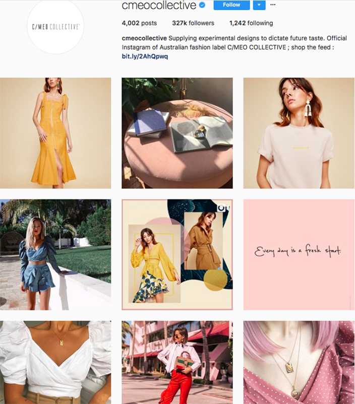 who to follow on instagram, australian clothing brands instagram, instagram marketing, best instagrams to follow, @cmeocollective