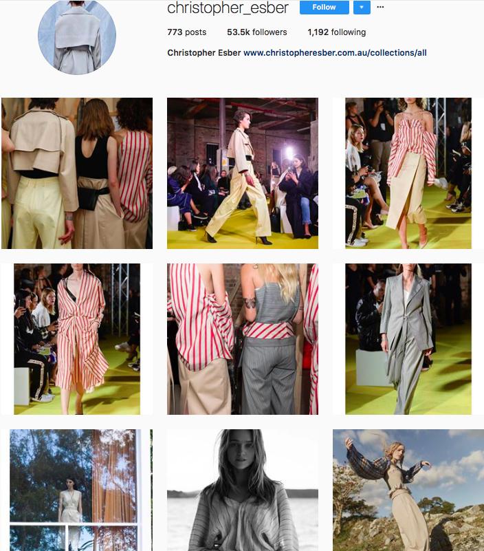 who to follow on instagram, australian clothing brands instagram, instagram marketing, best instagrams to follow, @christopher_esber