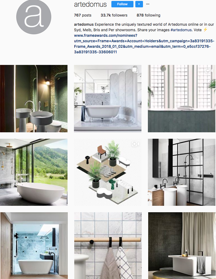 who to follow on instagram, australian clothing brands instagram, instagram marketing, best instagrams to follow, @artedomus