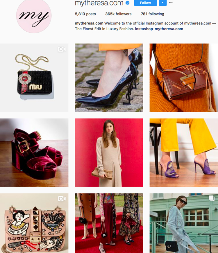my theresa, who to follow on instagram, best big name retailers, social media marketing