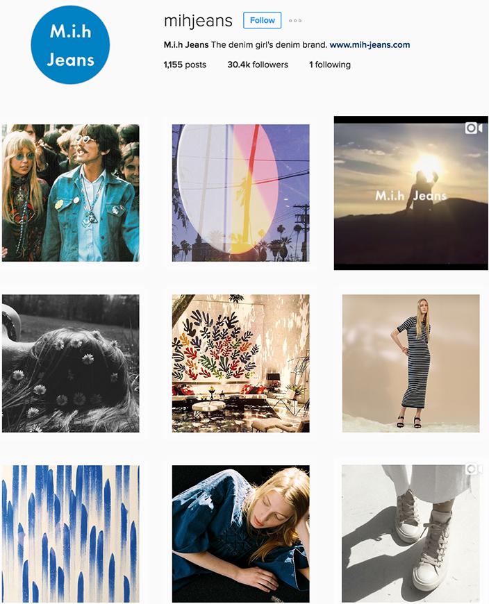 MiH Jeans Instagram best denim accounts to follow