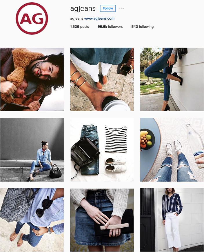 AG Jeans Instagram best denim accounts to follow