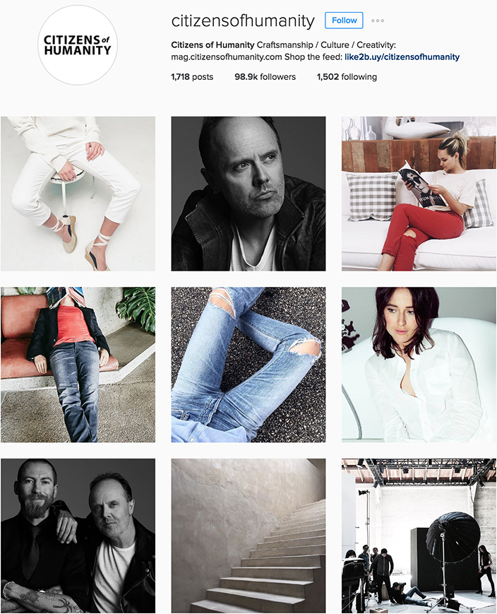 Citizens of Humanity Instagram best denim accounts to follow
