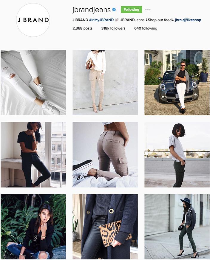 J Brand Jeans Instagram best denim accounts to follow