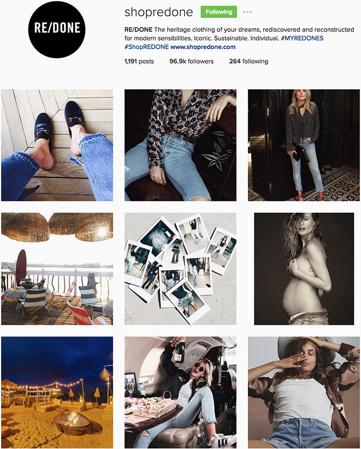 RE/DONE Instagram best denim accounts to follow
