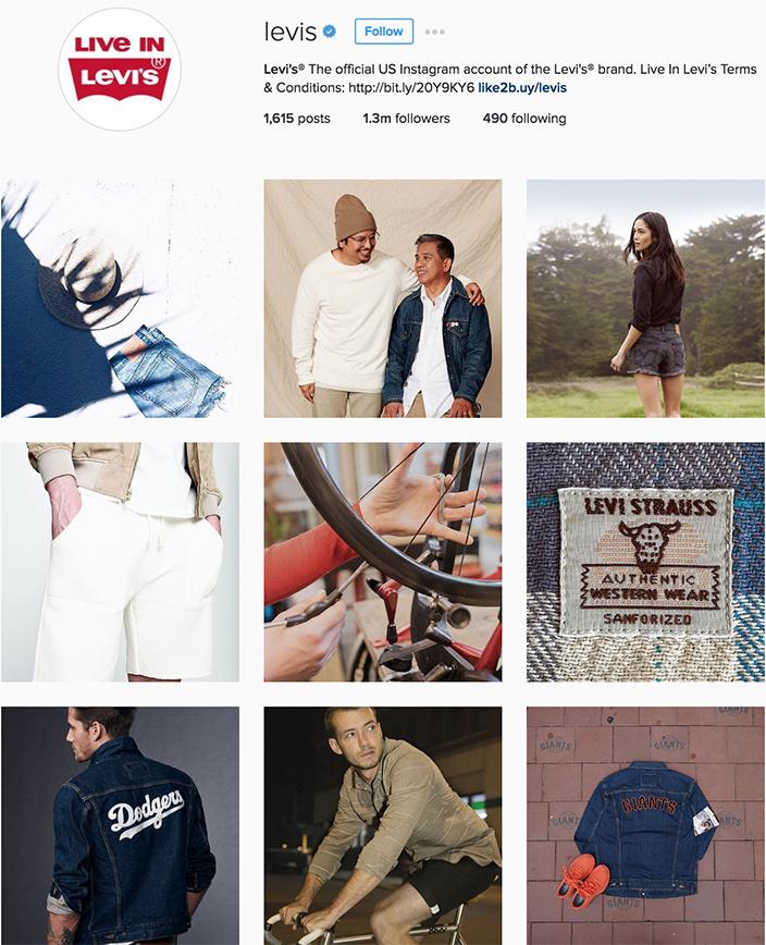 Levi's Instagram best denim accounts to follow