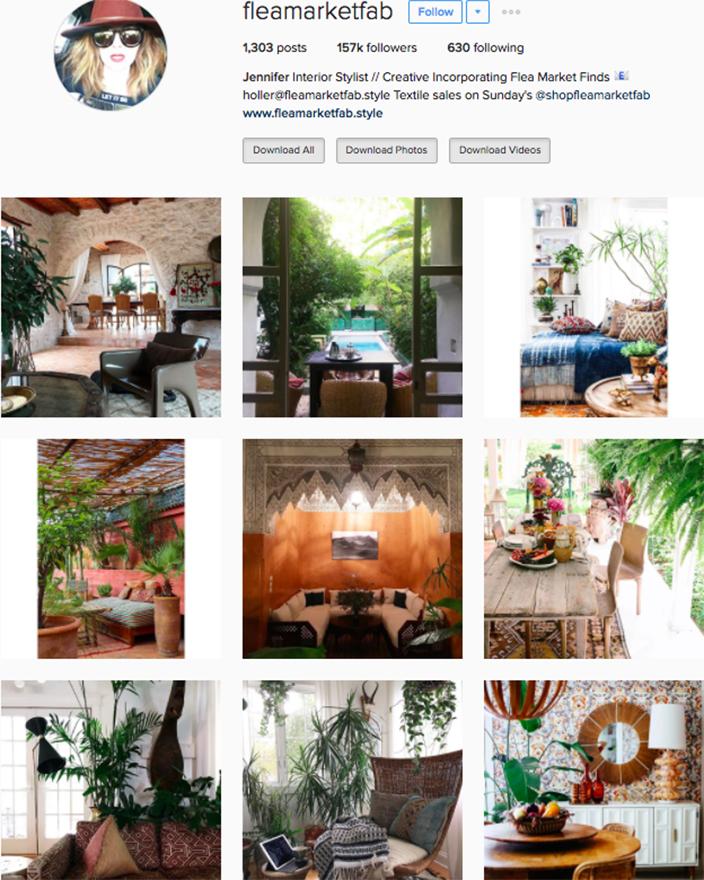 Best interior decor inspiration to follow on instagram @fleamarketfab