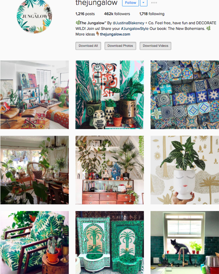 Best interior decor inspiration to follow on instagram @thejungalow