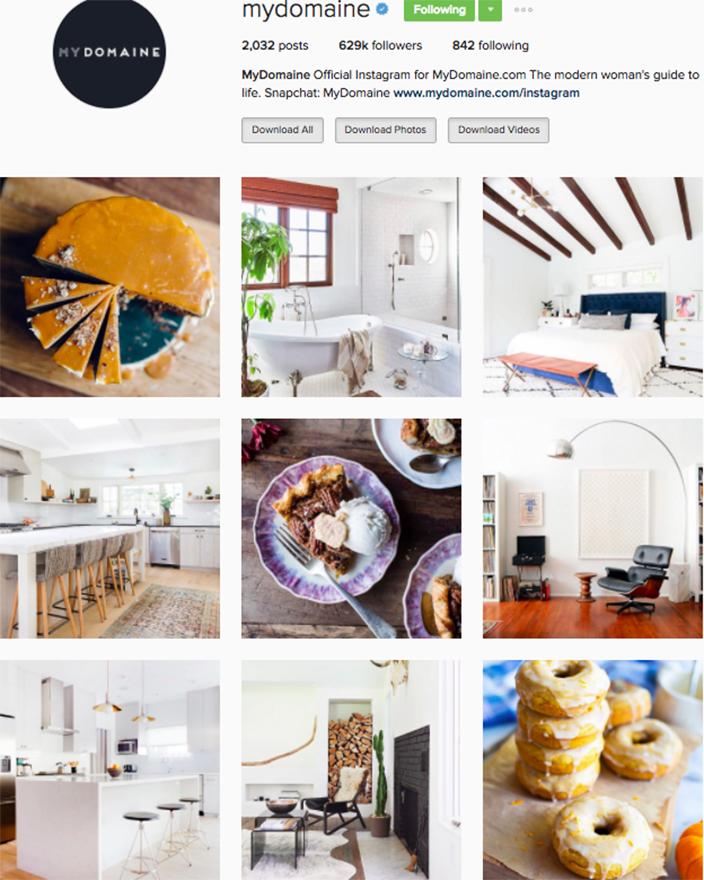 Best interior decor inspiration to follow on instagram @mydomaine