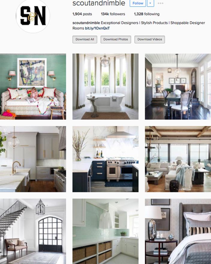 Best interior decor inspiration to follow on instagram @scoutandnimble